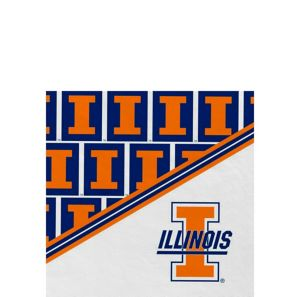 Illinois Fighting Illini Beverage Napkins 16ct