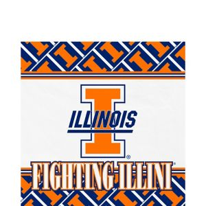 Illinois Fighting Illini Lunch Napkins 20ct