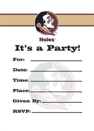 Florida State Seminoles Invitations 8ct