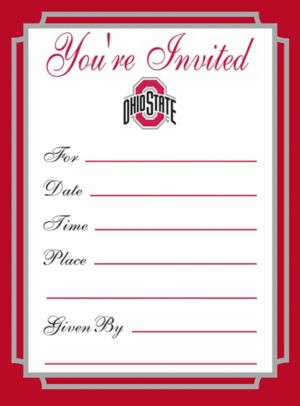 Ohio State Buckeyes Invitations 8ct