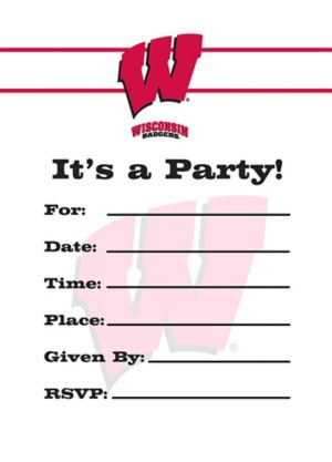 Wisconsin Badgers Invitations 8ct
