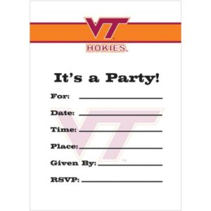 Virginia Tech Hokies Invitations 8ct