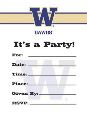 Washington Huskies Invitations 8ct