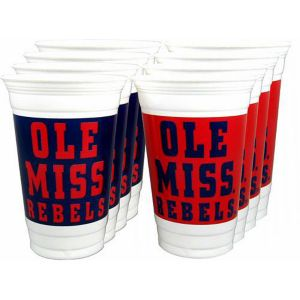 Ole Miss Rebels Plastic Cups 8ct