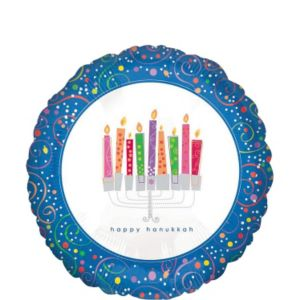 Hanukkah Balloon - Playful Menorah