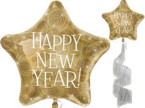 Happy New Year Balloon - Fringe Tail