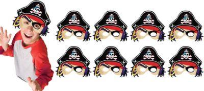 Pirate's Treasure Masks 8ct