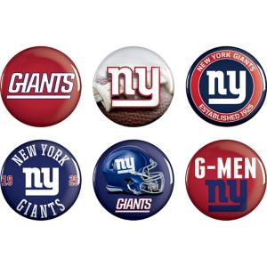 New York Giants Buttons 6ct
