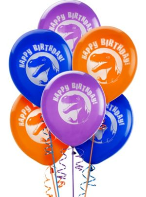 Happy Birthday Dinosaurs Balloons 6ct