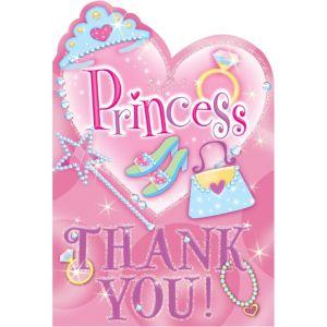 Princess Thank You Notes 8ct