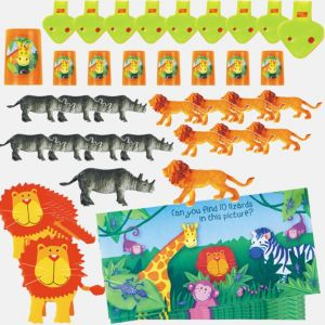 Jungle Animals Favor Pack 48pc