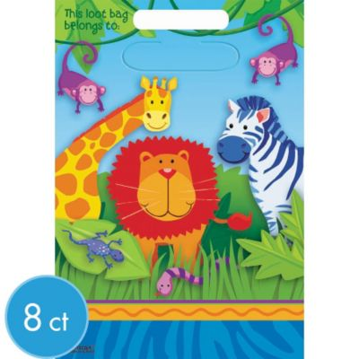 Jungle Animals Favor Bags 8ct