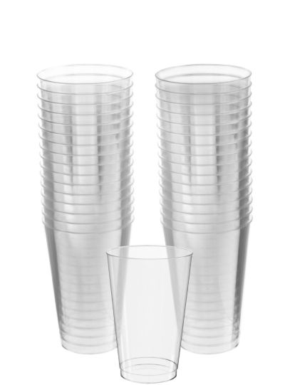 CLEAR Plastic Tumblers 32ct