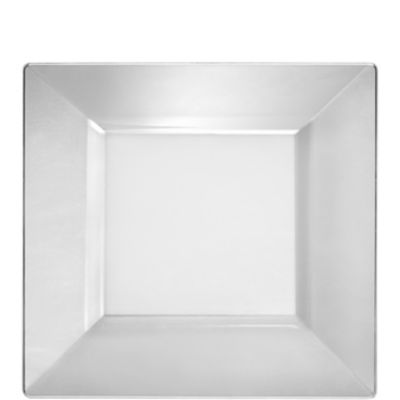 CLEAR Premium Plastic Square Lunch Plates 10ct
