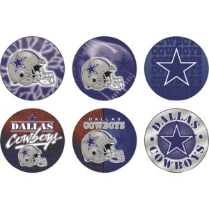 Dallas Cowboys Buttons 6ct