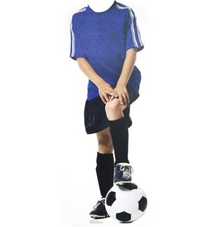 Soccer Kid Life Size Photo Cutout 48in