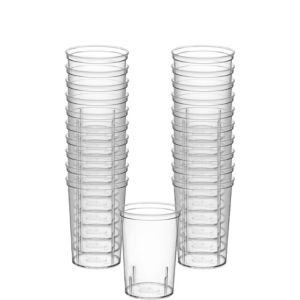 CLEAR Plastic Shooter Glasses 20ct