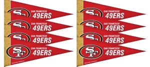 San Francisco 49ers Pennants 8ct