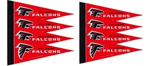 Atlanta Falcons Pennants 8ct
