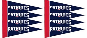 New England Patriots Pennants 8ct