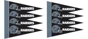Oakland Raiders Pennants 8ct