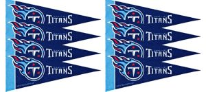 Tennessee Titans Pennants 8ct