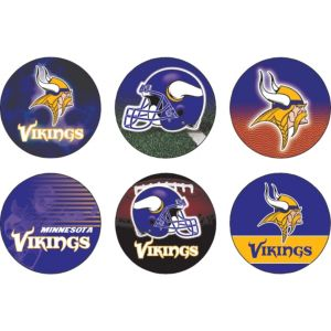 Minnesota Vikings Buttons 6ct