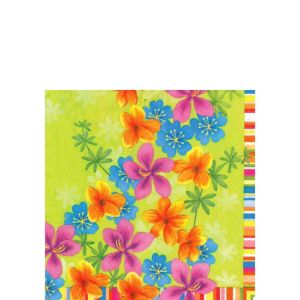 Flower Drizzle Beverage Napkins 20ct