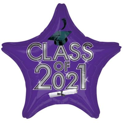 Star Class of 2015 Purple Graduation Balloon
