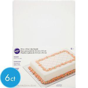 Wilton White Cake Boards 6ct