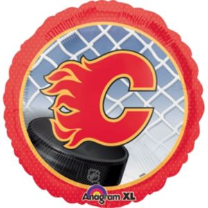 Foil Calgary Flames Balloon 18in