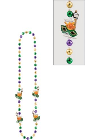 Bourbon Street Mardi Gras Bead Necklace