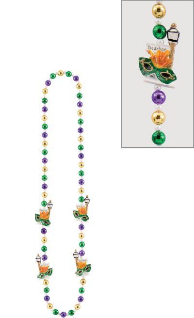 Bourbon Street Mardi Gras Bead Necklace