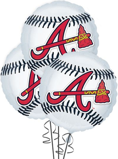 Atlanta Braves Balloons 18in 3ct