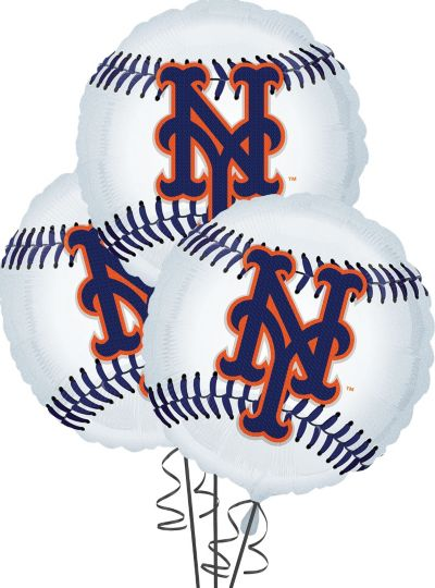 New York Mets Balloons 18in 3ct