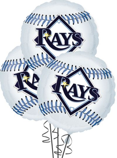 Tampa Bay Rays Balloons 18in 3ct
