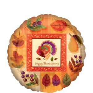 Thanksgiving Balloon - Watercolor Turkey