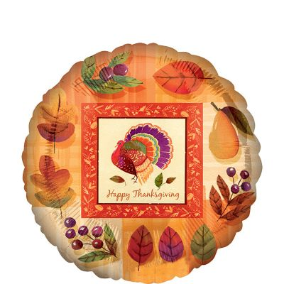 Thanksgiving Balloon - Watercolor Turkey