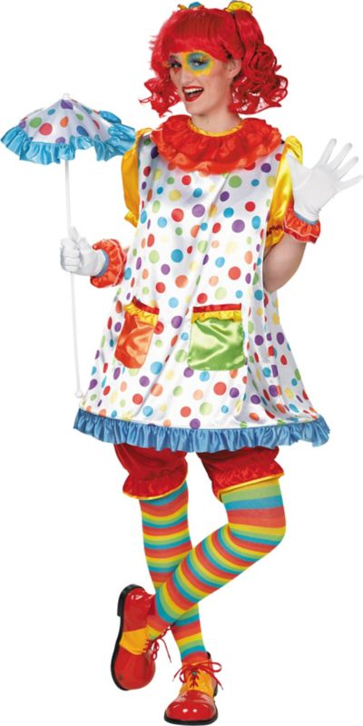 Adult Clown Girl Costume