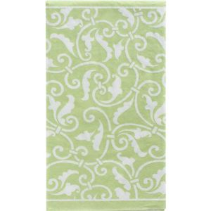 Leaf Green Ornamental Scroll Guest Towels 16ct