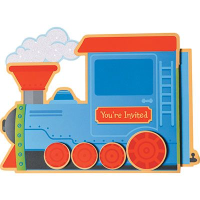 Choo Choo Large Invitations 8ct