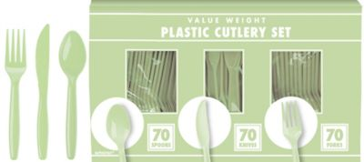 Leaf Green Cutlery Set 210pc