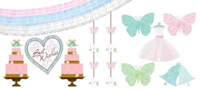 Blushing Bride Room Decorating Kit 16pc