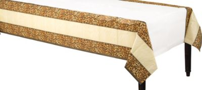 Leopard Print Paper Tablecover 54in x 108in