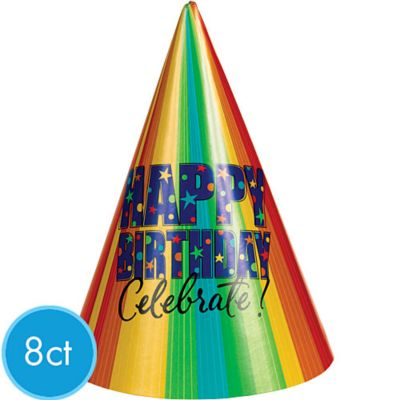 A Year to Celebrate Party Hats 8ct