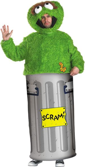 Adult Oscar the Grouch Costume - Sesame Street