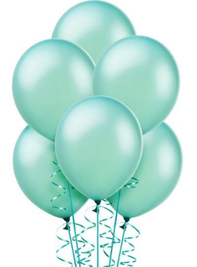 Aqua Pearl Balloons 10ct