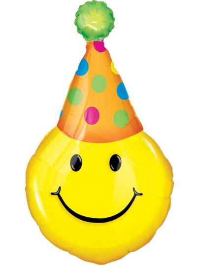 Happy Birthday Smiley Face Balloon