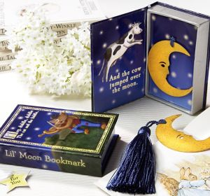 Over The Moon Bookmark Baby Shower Favor