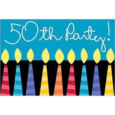 Great 50th Birthday Invitations 8ct